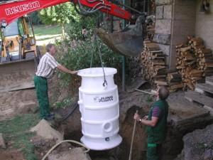 Pumpenschacht Einbau