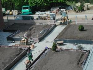 Gründach während der Bauzeit
