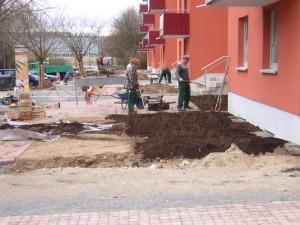 Außenanlage im Bau (Salzgitter-Lebenstedt)